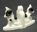 ART DECO PORCELAIN BOOKENDS - SCOTTIE  DOGS