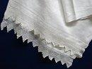 Huge Damask Huck Linen/Lace - TOWEL