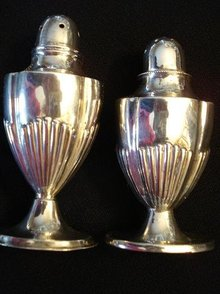 DECO BIRKS STERLING SALT&PEPPER SHAKERS