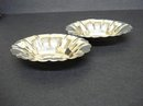 2 MATCHING FANCY OVAL STERLING CONDIMENT DISHES