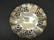 STERLING SILVER OPEN WORK DISH