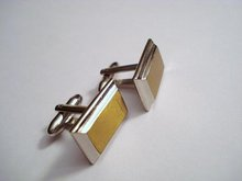 Handsome Hickok Cuff Links - Art Deco Style