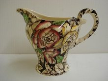 ENGLISH SHABBY CHIC FLORAL DECO STYLE JUG