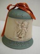 HUMMEL 1989-1992 CHRISTMAS BELL-SIGNED