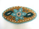 NATIVE MOOSE HIDE & BEADED STYLE HAIR BARRETTE