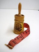 Antique Mauchlineware Tape Measure