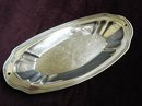 LOVELY SERVING OVAL SILVERPLATE TRAY