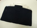 LOVELY 1930's BLACK CORD/LUCITE CLUTCH PURSE
