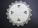 PRETTY TINY HEARTS LACE/ EMBROIDERY - DOILY