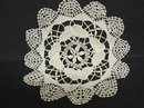 LOVELY CLUNY LACE ROUND DOILY - BUTTERFLY's