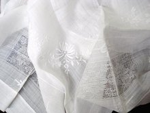EXQUISITE DRAWN THREAD WORK TABLECLOTH