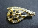 UNIQUE RHINESTONE BROOCH SIGNED  MONET