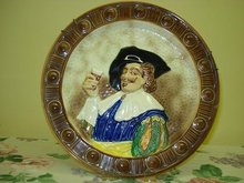 ANTIQUE MAJOLICA STYLE PLATE*HAPPY DAYS*