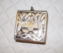 ART NOUVEAU STERLING - STAMP BOX - PENDANT