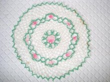 PRETTY  HAND MADE LACE DOILY