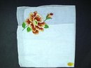 EXQUISITE LADIES HANKY-EMBROIDERY - ROSE
