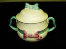 KEELE ST.POTTERY SUGAR BOWL-RIBBONS&BOWS
