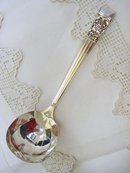 30's DECO  SILVERPLATE LADLE - CORONATION