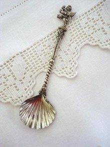 Figural Silver  Tea Caddy  Spoon