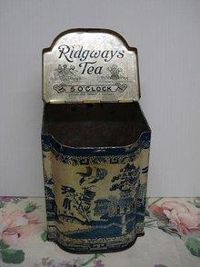 RIDGWAYS TEA TIN - 5 O'CLOCK - BLUE WILLOW