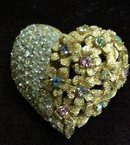 SUPERB VINTAGE RHINE STONE  BROOCH
