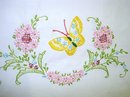 PILLOWCASE - PRETTY FLOWERS & BUTTERFLY