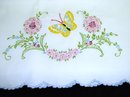 PILLOWCASE - PRETTY FLOWERS & BUTTERFLY