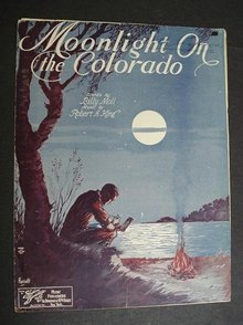 1930 SHEET MUSIC-MOONLIGHT on the COLORADO