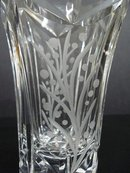 BRILIANT VINTAGE CUT CRYSTAL HEAVY VASE