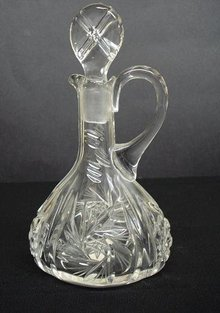 VINTAGE CUT CRYSTAL VINEGAR or OIL CRUET