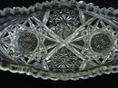 OVAL CRYSTAL SERVING DISH SAW TOOTH EDGE