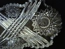 CRYSTAL SERVING DISH SAW TOOTH EDGE