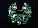 Sherman Sea Blue Aurora Borealis Brooch