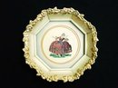 Heirloom Petit Point Framed Picture  Vintage