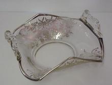 1900's Silver Overlay Handled Dish