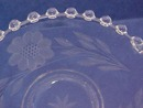 Early 1900's Candlewick  Etched Dish