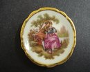 LIMOGES TINY PLATE-COURTING COUPLE