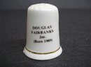 ENGLISH CHINA THIMBLE - DOUGLAS FAIRBANKS