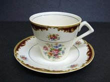 ART DECO  MYOTT CHINA CUP & SAUCER