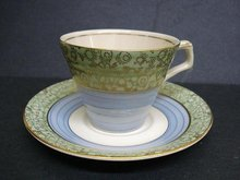Uncommon ART DECO H&K TUNSTAL CHINA CUP and SAUCER