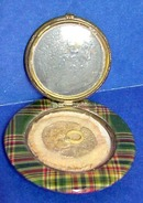 1934 Bakelite COMPACT Scottish Tartan