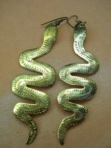 IMPRESSIVE VINTAGE FIGURAL EARRINGS