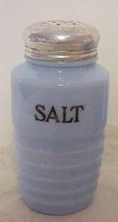 Jeannette Delphite Ribbed Salt Pepper Shakers*