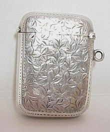 Victorian Sterling Match Box - Vesta