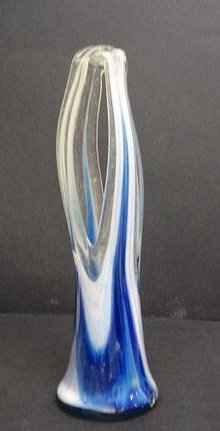 SPECIAL - UNIQUE FORM - ART GLASS - VASE