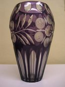MASSIVE BOHEMIAN CASED GLASS VASE