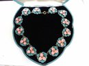 SPECTACULAR ANTIQUE ENAMEL NECKLACE