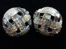 SPECTACULAR RHINESTONE CLIP-ON EARRINGS