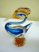 HAND BLOWN ART GLASS STATUE ROADRUNNER