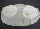 EMBROIDERY ORGANDY DRESSING TABLE SET